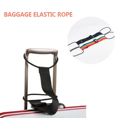 Add A Bag Strap Adjustable Belt Travel Luggage Suitcase Rainbow Bungee Strap