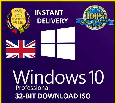 Windows 10 Professional 32 Bit Re-Install Repair Recovery ISO (INSTANT DELIVERY)