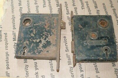 2 Vtg Nashua Mortice Lock Farmhouse Door Lock  Victorian Skelton Key 1890'S
