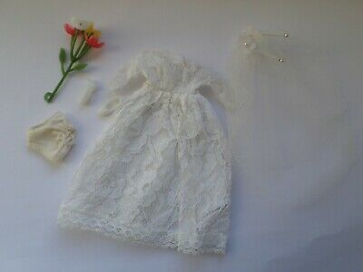Topper Dawn Palitoy Pippa doll clone - wedding gown & accessories