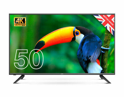 """CELLO 50"""" INCH 4K LED TV FREEVIEW HD, 3 x HDMI & USB. 2020 MODEL MADE IN UK"""