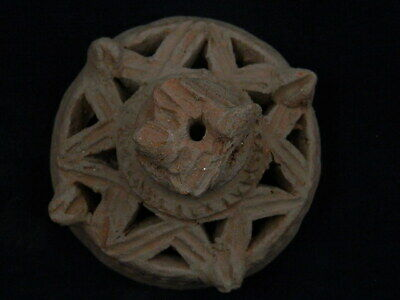Ancient Teracotta Lid of Casket Indus Valley 1000 BC No Reserve #PT692