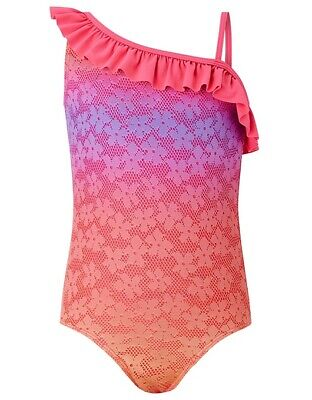 NEW MONSOON GIRLS Pink Ombre SWIMMING COSTUME SWIMSUIT AGE 11-12 Years BNWT