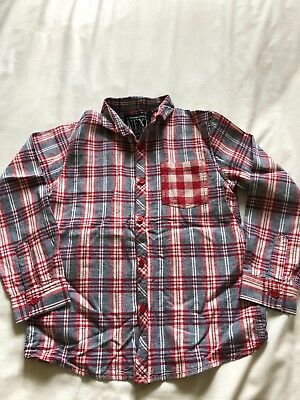 Boys Next Blue/Red Checked Shirt Age 7yrs. Excellent condition