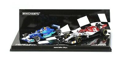 Minichamps 412190117 1/43 Kimi Raikkonen 2001-2019 Twin car career F1 Model Set