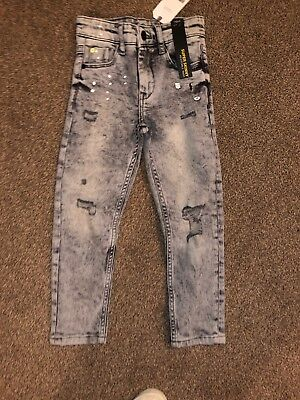 Boys Next BNWT Grey Stonewash/Distressed Super Skinny Jeans Age 5 Years
