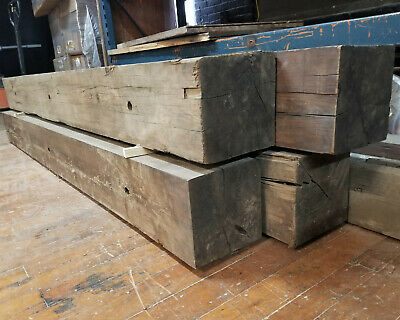Huge Antique Factory Beams c1890 Reclaimed Wood Vintage Connecticut New England