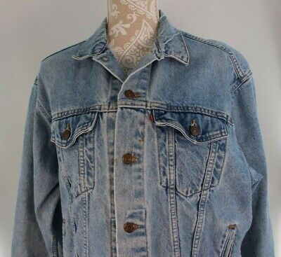 Levi's  Vintage Trucker Jean Jacket Denim Size XL 20 Youth Fits Woman's M to L