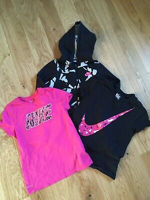 Girls L Nike Bundle Hoody And Tops 12-13 Years