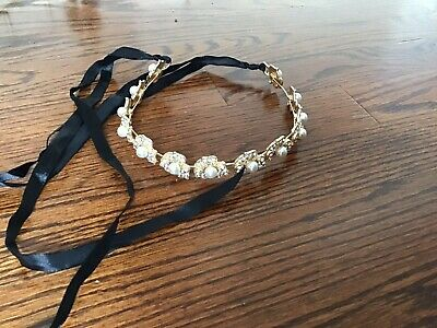 Gold Flower With Pearl Headpiece