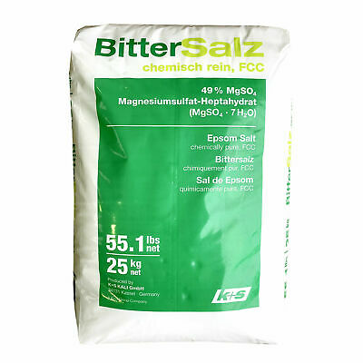 EPSOM SALT | 25KG BAG | FCC Food Grade | Magnesium Sulphate