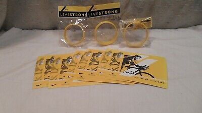3 Nike Livestrong Silicone Lance Armstrong Wristbands China 2 Adult 1 Child