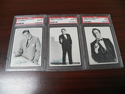 1965 Topps Man From Uncle 3 Card Lot Of Psa 9 Mint Cards #4,6 & 15 Gorgeous