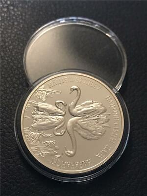 2003 Belarus 'Two Mute Swans' .925 20 Roubles Proof **RARE**