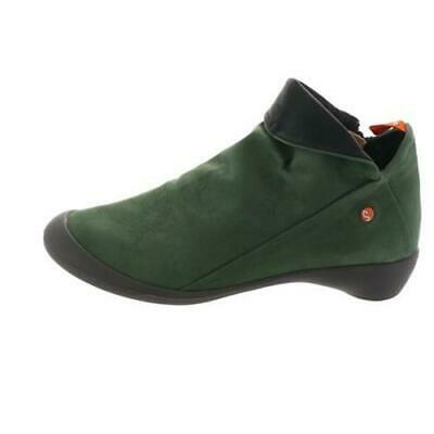 6*14 NEW Softinos Farah Dark Green Nubuck Leather Ankle Boots Women's Size 39