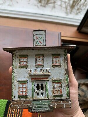 Antique Cast Iron Bank Building Cupola Still Bank