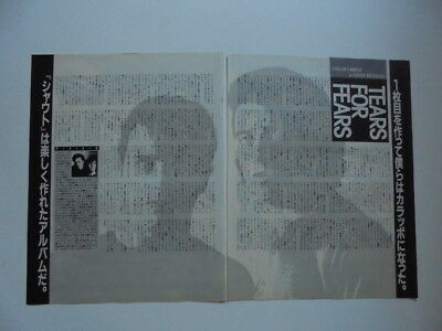 Tears For Fears Roland Orzabal Curt Smith Thompson Twi cuttings clippings Japan
