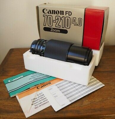 Canon FD 70-210mm 1:4 Tele-Zoom LENS original FOR A1, AE-1,F1,T90 - Boxed - EXC
