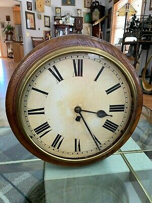 Antique Large Oak Winterhalder & Hofmeier Chain Fusee Gallery Clock