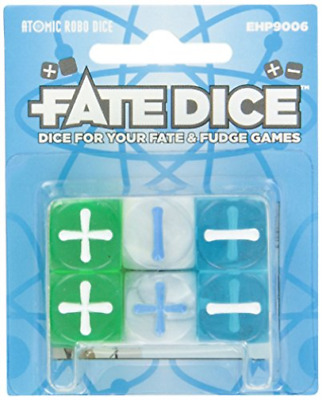 Fate Core Rpg: Fate Dice - Atomic Robo (12) (Importación USA) ACC NUEVO