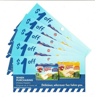 15x Save $1.00 on Laughing Cow Cheese Dippers Coups Mar 31 2020 (Canada)