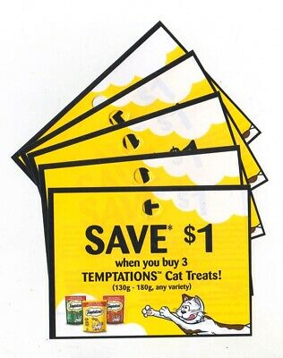 14 x Save $1 on Temptations Cat Treats Coups (Canada)
