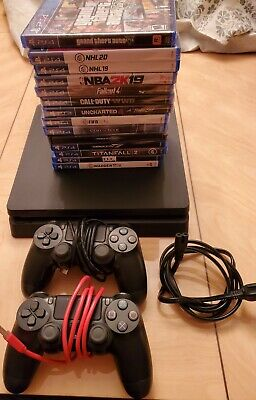 Sony Playstation 4 Bundle ~ PS4 Slim 500GB CUH-2015A 2 Controllers 13 Games!