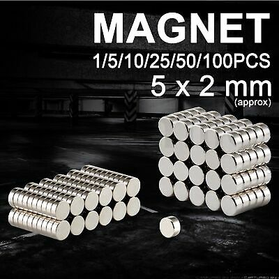 Rare Earth Strong Magnet Disc Round Cylinder Neodymium Super Magnet 5 x 2mm
