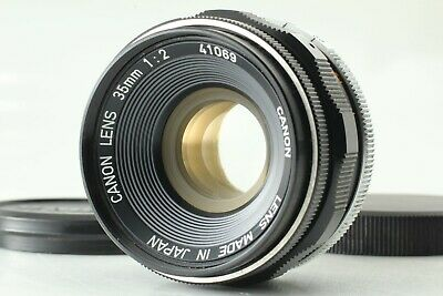【 EXCELLENT+++++ 】 Canon 35mm f/2 L BLACK MF Lens Leica Screw L39 LTM from JAPAN