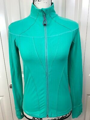 CUTE🍀IVIVVA by Lululemon 14 Perfect Your Practice Jacket Mint Teal Green