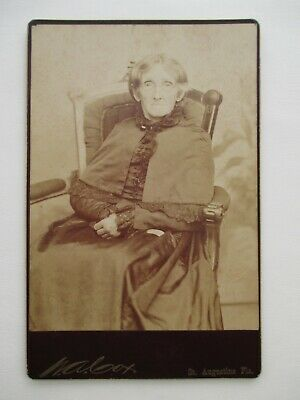 1888 ID'd Cabinet Card Nancy Brainard of St. Augustine Florida Family Ancestry