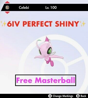 -Pokemon Sword and Shield- ✨Shiny ✨ 6IV UNRELEASED Celebi  FAST DELIVERY