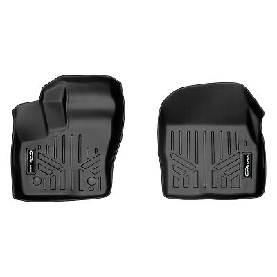 SMARTLINER Floor Mats 2 Row Liner Set Black for 2015-2019 Ford F-150 SuperCab with 1st Row Bucket Seats Maxliner USA A0167//B0172