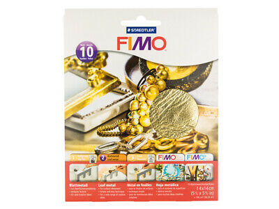 Fimo 14cmx14cm Gold Leaf Cover Sheets, Pack of 10