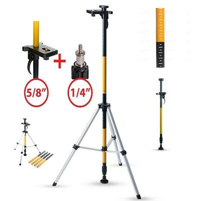 Laser Level Telescopic Pole 3.6m Tripod Base Floor to Ceiling Support 1/4 + 5/8