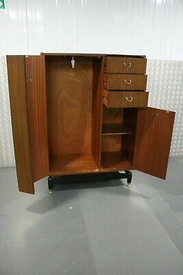 Vintage G Plan Tola and Black Wardrobe Retro Mid Century Furniture