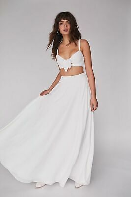 NEW FREE PEOPLE x FAME & PARTNERS THE ELSIE MAXI SKIRT TOP 2PC SET SZ 4