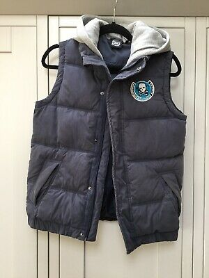 Boys Blue ANIMAL hooded Gilet Age 13-14 Hardly Worn Good Condition