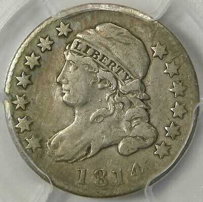 😍❌⭕️❌⭕️❤️❤️❤️Pcgs Vf20 1814 Bust Dime Large Date
