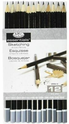 Royal Langnickel Essentials Set 12 Sketching Artist Pencils (5H - 6B)