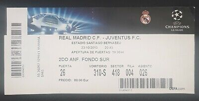 Entrada Real Madrid - Juventus. Champions League. Fútbol - Football.