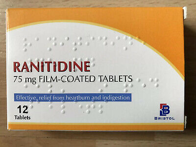 Ranitidine 75mg 1 Box , 12 Tablets Heartburn & Indigestion