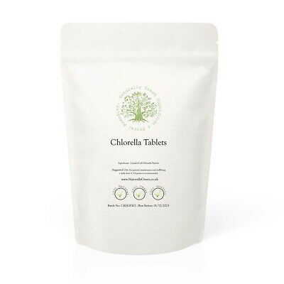 Chlorella Tablets 500mg - Cracked Cell Wall FREE P&P
