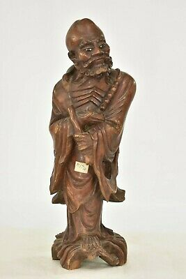 Antique Chinese Hard Wood Carved Statue / Figure