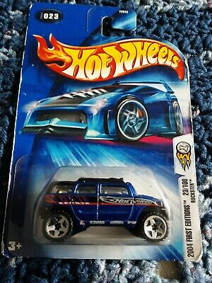 2004 Hot Wheels #023 First Editions Rockster blue toothed grill