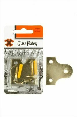 Frank Shaw X Hooks Pictures Hooks Brassed Plated Glass / Frame Plates 50mm 2/PK