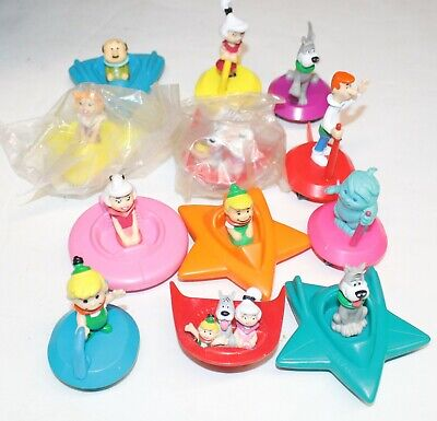 Vintage The Jetsons Pull Back Toys Wendy's Happy Meals Spaceships Hanna Barbera