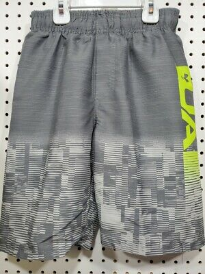Boys Kids Youth Under Armour Pitch Gray Swim Trunks NEW Size Medium