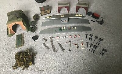 Job Lot 00 OO Gauge Model Railway Buildings Scenery Items For Hornby Train Sets