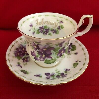 "Royal Albert ""Flower of The Month Series"" Cup and Saucer~ February ~ Violets"